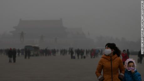 Beijing, the capital of China, is often shrouded in dense smog in winter.