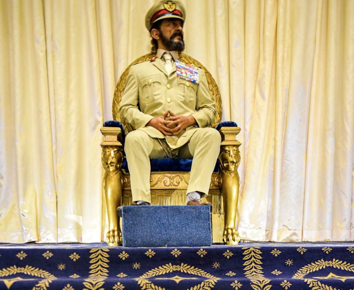 Ceară în mărime naturală de Haile Selassie la Palatul Imperial - octombrie 2019