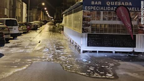 Alicante a fost supusă inundațiilor la nivel scăzut.