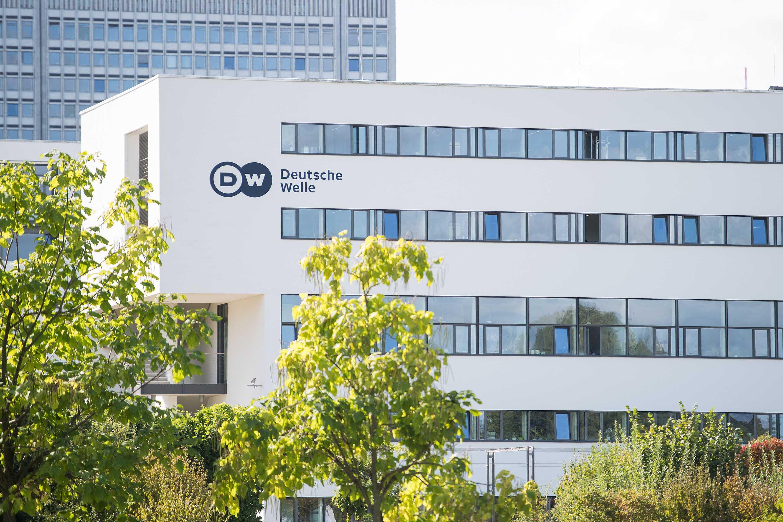 Sediul central al radiodifuzorului internațional german Deutsche Welle (DW) este fotografiat la Bonn, Germania, în septembrie 2016.